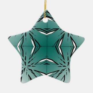 Bien proporcionado adorno navideño de cerámica en forma de estrella