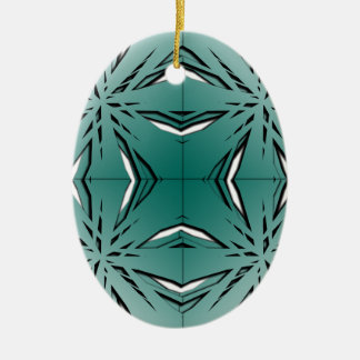 Bien proporcionado adorno navideño ovalado de cerámica
