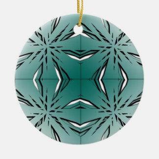 Bien proporcionado adorno navideño redondo de cerámica