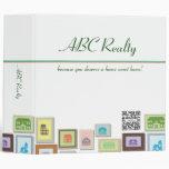 Bienes raices de ABC de la carpeta de anillo 3