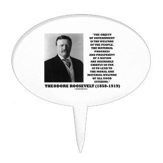 Bienestar del gobierno de T. Roosevelt Object de Decoración Para Tarta