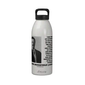 Bienestar del gobierno de T. Roosevelt Object de l Botella De Agua Reutilizable