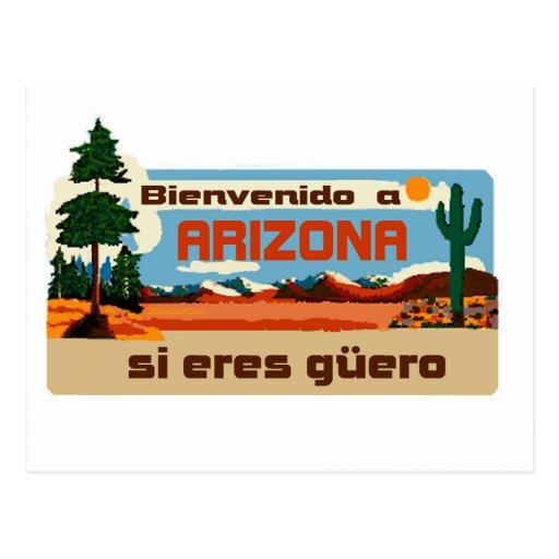Bienvenido un guero 2Gio de los eres de Arizona si Postal