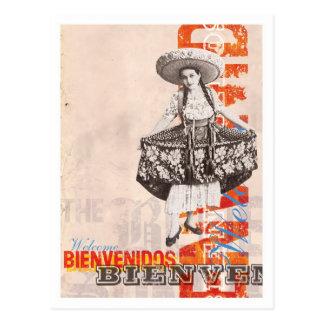 Bienvenidos postcard