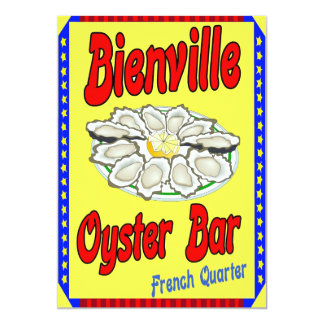 Bienville Oyster Bar 5x7 Paper Invitation Card