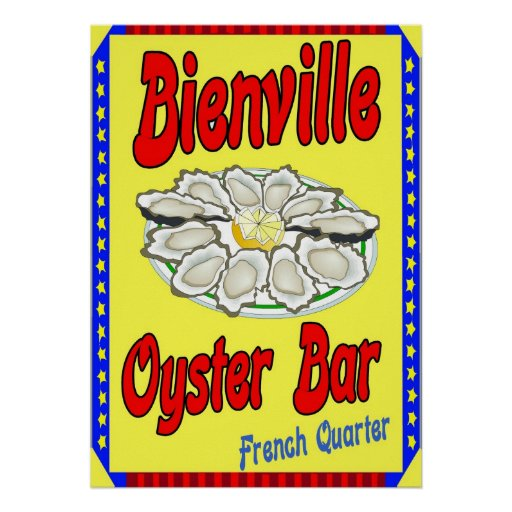 Bienville Oyster Bar Poster