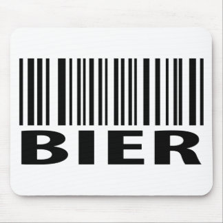 Bier barcode icon mouse pad