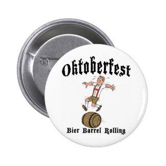 Bier Barrel Rolling Oktoberfest Button
