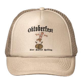 Bier Barrel Rolling Oktoberfest Gift Trucker Hat