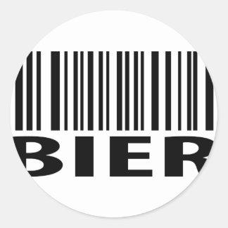 Bier code icon round sticker
