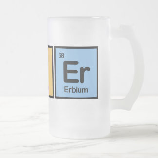 Bier made of Elements Frosted Glass Beer Mug