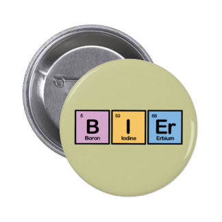 Bier made of Elements Pinback Button
