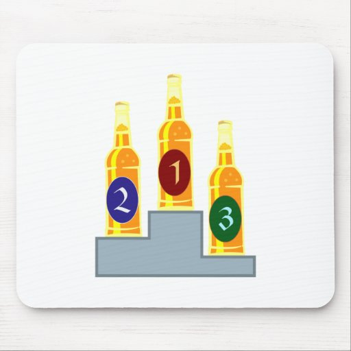 Bier Siegertreppe beer winner's podium Mousepad