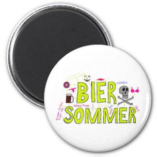 Bier Sommer Fridge Magnets