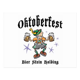 Bier Stein Holding Oktoberfest Gift Postcard