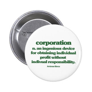 Bierce on Corporations Pinback Button