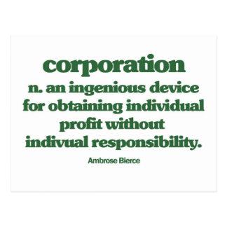 Bierce on Corporations Post Cards