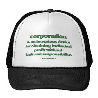 Bierce on Corporations Trucker Hat