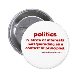Bierce on Politics 2 Inch Round Button