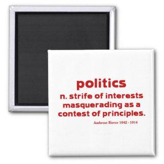 Bierce on Politics 2 Inch Square Magnet