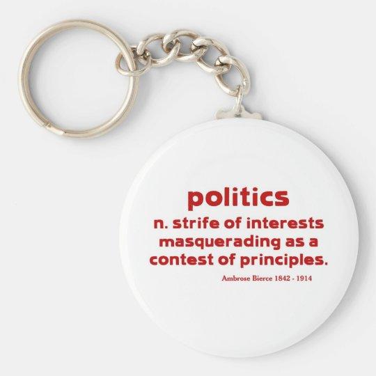 Bierce on Politics Keychain