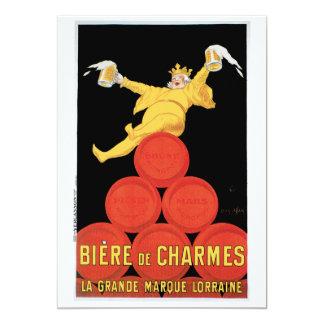 """Biere de Charmes Invitation/tarjeta de cumpleaños Invitación 5"""" X 7"""""""