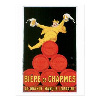 Biere De Charmes Vintage Drink Ad Art Postcards