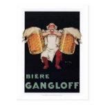 Biere Gangloff 2 Tarjetas Postales