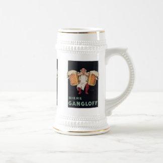 Biere Gangloff 2 tazas del anuncio de la cerveza d