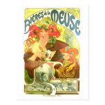 Bières de la Meuse, Alphonse Mucha Postcard