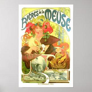 Bières de la Meuse Alphonse Mucha Print