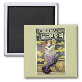 Bieres De La Meuse, Marc Auguste Bastard 2 Inch Square Magnet
