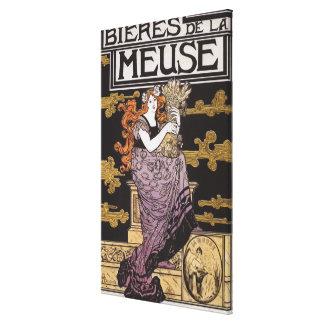 Bieres de la Meuse Promotional Poster Canvas Print