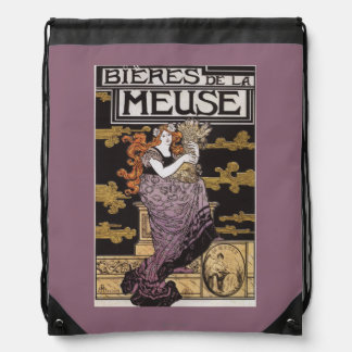 Bieres de la Meuse Promotional Poster Drawstring Bag