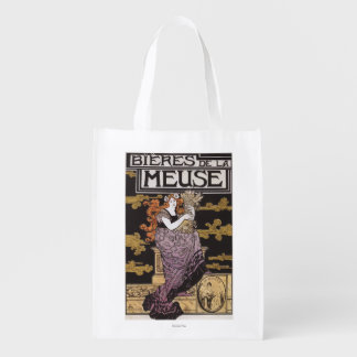 Bieres de la Meuse Promotional Poster Grocery Bag