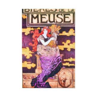 Bieres de la Meuse Vintage Advertisement Canvas Print