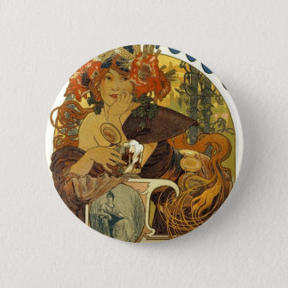 Bieres de la meuse vintage french poster art pinback button