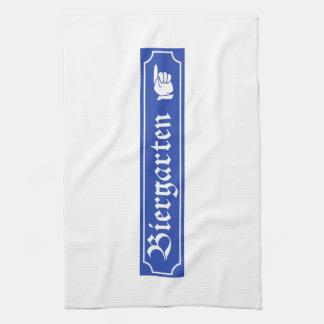 Biergarten Sign, Bayern, Germany Kitchen Towels
