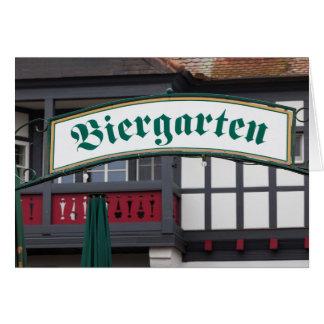 Biergarten sign, Germany Card