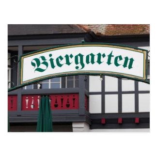 Biergarten sign, Germany Postcard