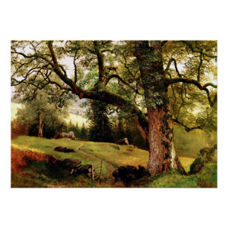 Bierstadt - A Trail through the Trees Poster