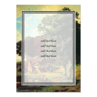 Bierstadt Albert, A Rustic Mill 5.5x7.5 Paper Invitation Card