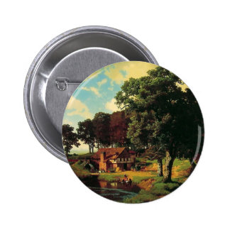 Bierstadt Albert, A Rustic Mill Button