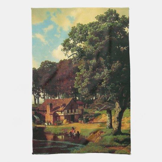 Bierstadt Albert, A Rustic Mill Hand Towel