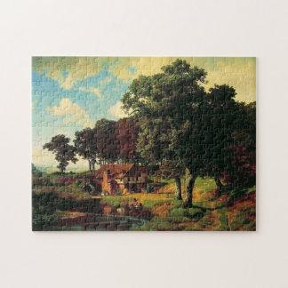 Bierstadt Albert, A Rustic Mill Jigsaw Puzzle