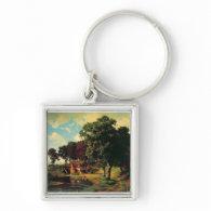 Bierstadt Albert, A Rustic Mill Key Chain