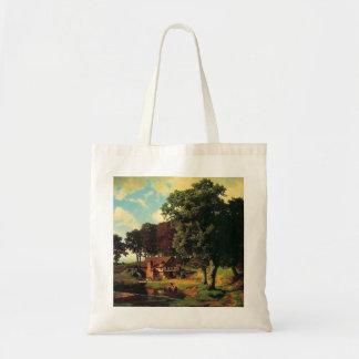 Bierstadt Albert, A Rustic Mill Tote Bag