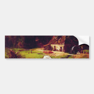 Bierstadt Albert el molino viejo Pegatina Para Auto