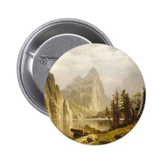 Bierstadt Albert Merced River Yosemite Valley Button