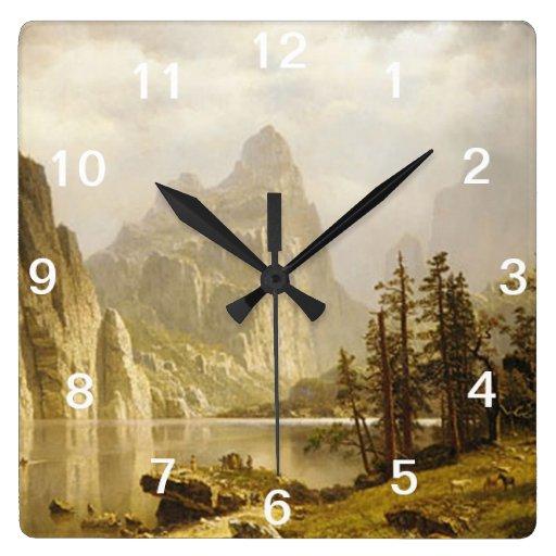 Bierstadt Albert Merced River Yosemite Valley Wall Clocks